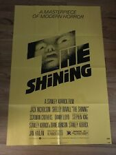 """The Shining 1980 original one sheet movie Poster 27""""x41""""Great condition-folded."""