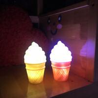 Novelty LED Night Light Ice Cream Lamp Led Lamp For Kids Children Cone Shape