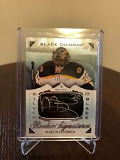 2015-16 Malcolm Subban UD Black Diamond Rookie Auto Signatures 148/199