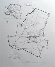 GLASTONBURY, SOMERSET, UK, Street Plan, Dawson Original antique map 1832