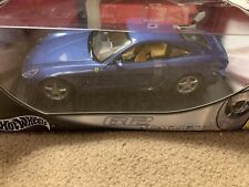 Hot Wheels Ferrari Enzo 612 Scaglietti Blue Car DieCast 1:18 NEW