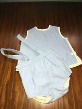 Culotte et blouse brassière époque vintage pour poupon, bébé