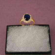 Bisutería de color principal azul de oro blanco zafiro