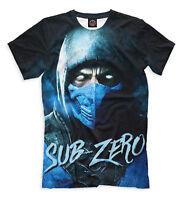 Sub-Zero tshirt - Mortal Kombat tee fighting game character SubZero t shirt