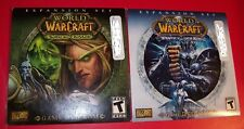 Lot of 2 World of Warcraft Expansion Sets: Wrath of Lich King + Burning Crusade