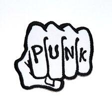 Punk Fist Hand Hard Rock band Pop Music Cap Shirt Jacket Bag Backpack Iron Patch