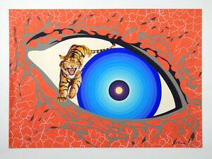 GIANNI PARZIALE (Brescia - Brasile) - 1973 - Tempera su cartone - Tigre onirica