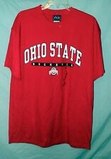 OHIO STATE BUCKEYES RED S/S COTTON TEE SZ L NWOTS