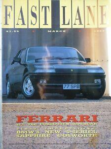 FAST LANE 88/03 FERRARI 412 BMW HARTGE MG METRO MINI FORD FIESTA XR2 CITROEN AX