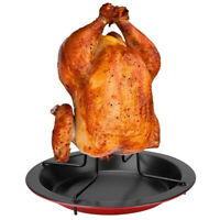 Barbecue Vertical Chicken Roaster Grill Stand Cooker Holder BBQ Tools Outdoor