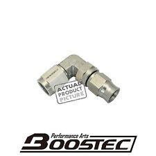 BOOSTEC 304 Stainless Steel Brake Clutch PTFE Teflon Hose End AN3 3AN 90 degree