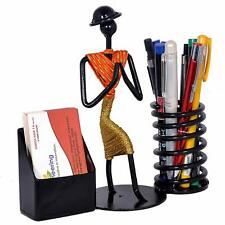 Pen/ Pencil and Visiting Card Holder with Attractive Welcome Gesture Lady / Gift