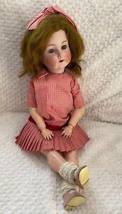 Large Antique Bisque head doll , Flapper body , Simon Halbig # 403, K Star R