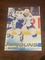 2019-20 Upper Deck Alexander Volkov Tampa Bay Lightning Young Guns RC #488