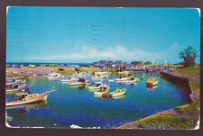 OGUNQUIT MAINE ME 1961 Perkins Cove Yacht Basin Vintage Postcard PC