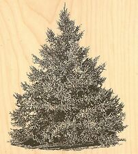 LARGE PINE TREE Wood Mounted Rubber Stamp IMPRESSION OBSESSION K16247 NEW