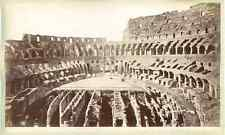 Italia, Roma, Interno del Colosseo  Vintage albumen print. Vintage Italy.  Tir