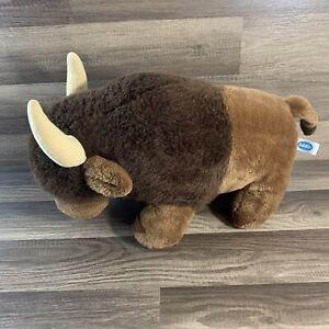 Vtg 1984 Dakin Buffalo Bison Plush Stuffed Animal 16 Inches Long