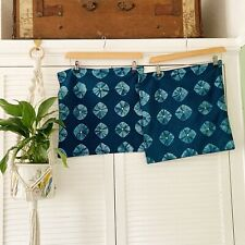 Indian Cotton Cushion Covers Tie Dye Blue Square Envelope Mirror Envelope Boho