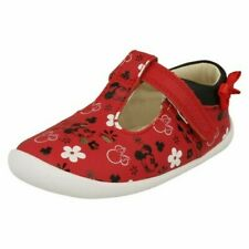 Girls Clarks Disney Detailed t-Bar Shoes 'Roamer Bow t'