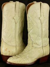 Mens Off White Crocodile Skin Cowboy Boots Hornback Genuine Leather J Toe Size 7