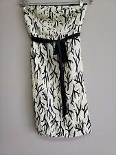 Anthropologie Moulinette Soeurs Women's Black & White Strapless Dress Size 6 NWT