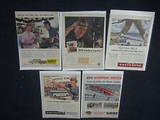 Lot of 5 Transportation Greyhound Advertising Pages From Magazine Life 40's-70's