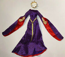 Royal Purple doll dress Guinevere Medieval Camelot Gown fits 16in Ellowyne Cami