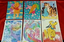 Vintage Pre-School Wooden Puzzle Lot of 6 Playskool Puzzles My Little Pony Pluto