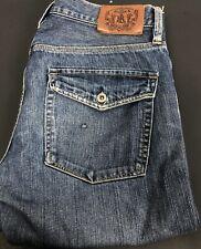 Ralph Lauren Polo Mens 32x34 Jeans Mercer Slim Fit Straight Leg Blue Button Fly