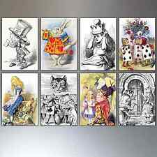 Alice In Wonderland Fridge Magnets Sir John Tenniel Illustrations Set Of 8