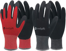 Gardening Gloves Breathable Rubber Coated Work Use Large Size Snug Fit 6 Pairs