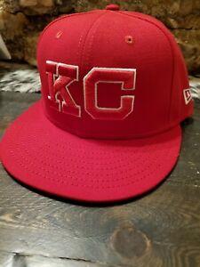 Kansas City Royals New Era 59Fifty Team Issued Monarchs Hat Mens 7 1/8