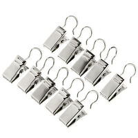 10 x Metal Mini Curtain Clips Pole Rod Net Rings Hooks Clothes Hanging