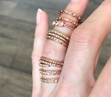 9 NEW Free People stacking cluster Rings Set Rosegold tone  Above Knuckle $28