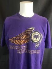 VTG Harley Davidson Motorcycles Texarkana Phoenix Bird Wings Purple 80s Tee XL