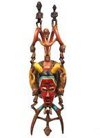 Arte Africano Etnico Etnografico - Splendido Maschera Gouro - XXL - 74,5 CMS
