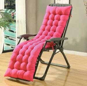 """61"""" Chaise Lounge Cushion Outdoor Chair Cushions Deck Tufted Indoor Recliner"""