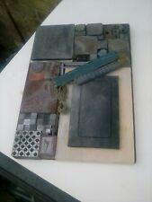 letterpress steel galley job lot