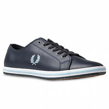 2020 Fred Perry B7163 Authentic Shoes Kingston Leather Navy Blue