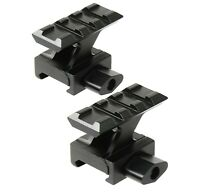 2 PCS Lockdown Picatinny Riser High Profile Red Dot Picatinny Mount 3 Slot