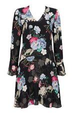 Wallis Dropped Waist Floral Shift Dress Size UK 10 LF089 HH 01