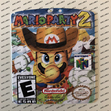 Mario Party 2 US Nintendo N64 Cartridge Replacement Cart Label Sticker Die Cut