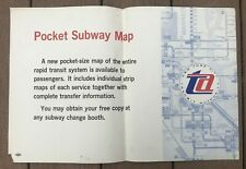 Vintage 1967 NY Subway Subway New Pocket Size Subway Map Notice