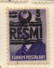 Turkey 1955-56 Optd Resmi Star & Crescent Issue Fine Used 5k. Surcharged 085990
