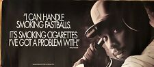 Kirby Puckett Minnesota Twins Vintage Original Anti-Smoking Poster. 36x16. MLB