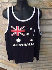 Australia 2XL Australian Flag Tank Top Shirt.  Dark Navy Blue.  Unisex.