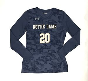 Under Armour Notre Dame Ultimate Spike Long Sleeve Jersey Women's Small 1294526