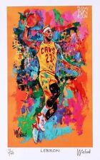 LEBRON JAMES FINE-ART PRINT 11/199 SIGNED BY PAINTER WINFORD COA Basketball CAVS