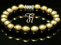 Hämatit Hematit Armband Bracelet Perlenarmband Buddha 8mm gold